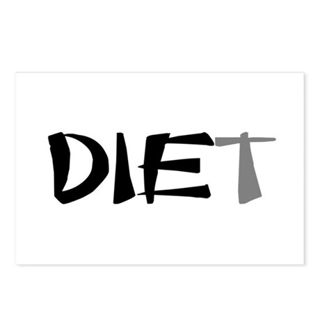 Diet Postcards (Package of 8)