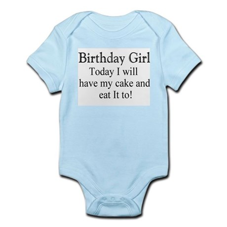 Birthday Girl/cake Infant Bodysuit