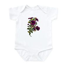 PURPLE PETUNIA FROGS Infant Bodysuit