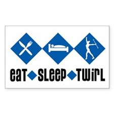 Eat Sleep Twirl (Blue) Rectangle Decal