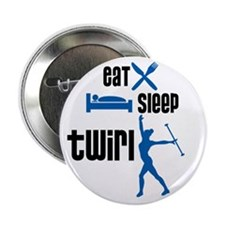 "Eat Sleep Twirl (Blue) 2.25"" Button (10 pack)"
