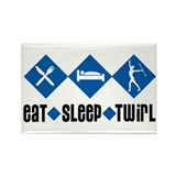 Eat Sleep Twirl (Blue) Rectangle Magnet