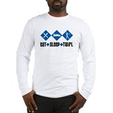 Eat Sleep Twirl (Blue) Long Sleeve T-Shirt