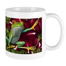 RED PETUNIA FROGS Mug