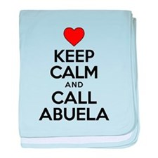 Keep Calm Call Abuela baby blanket