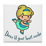 Dance Hearts Tile Coaster