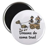 Wedding Carriage Magnet