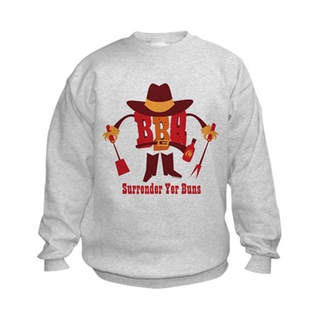 Surrender Yer Buns Kids Sweatshirt