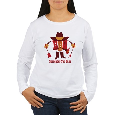 Surrender Yer Buns Women's Long Sleeve T-Shirt