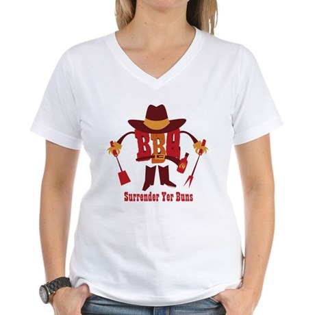 Surrender Yer Buns Women's V-Neck T-Shirt