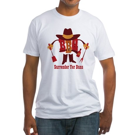 Surrender Yer Buns Fitted T-Shirt