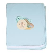 SAND DOLLAR ON OCEAN FLOOR baby blanket