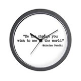 Be The Change - Ghandi Wall Clock