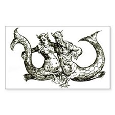 Mermaid Couple Rectangle Decal