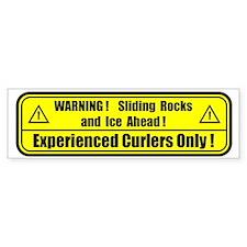 """""""Warning! Sliding Rocks..."""" Bumper Bumper Sticker"""
