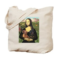 Mona Lisa (new) & Dachshund Pair Tote Bag