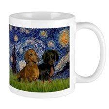 Starry Night & Dachshund Pair Mug
