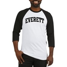 EVERETT (curve-black) Baseball Jersey