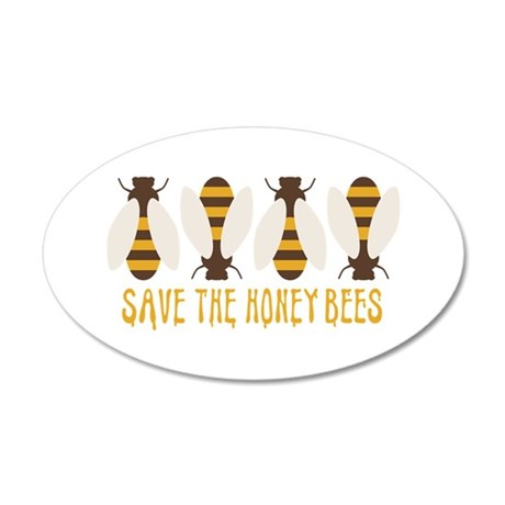 Save The Honey Bees Wall Decal