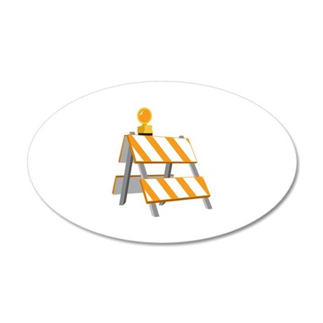 Road Construction Detour Wall Decal