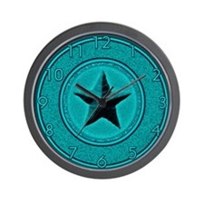 Turquoise Southwest Star Wall Clock