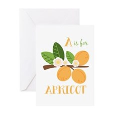 A Is For Apricot Greeting Cards