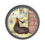 Weighty Weiner Dog Wall Clock