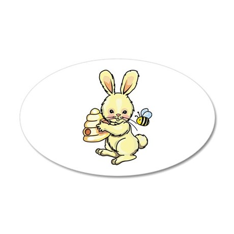 BUNNY WITH BEE AND HIVE Wall Decal
