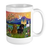 Dachshund Pair in Fantasy Land Mug