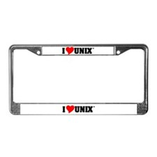Unix Lovers License Plate Frame