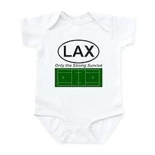 Funny College lacrosse Infant Bodysuit