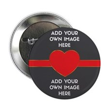 """Lovers - Add Your Own Images 2.25"""" Button (10 pack"""