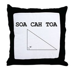 Soa Cah Toa Throw Pillow