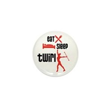 Eat Sleep Twirl (Red) Mini Button (100 pack)