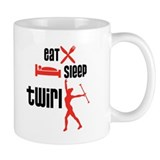 Eat Sleep Twirl (Red) Mug