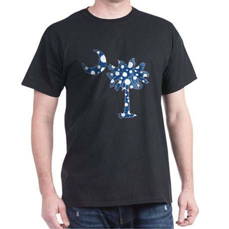 Blue Polka Dot Palmetto Dark T-Shirt