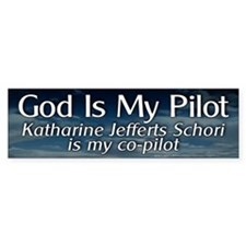 KJS Is My Co-Pilot Bumper Bumper Sticker