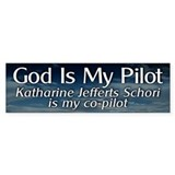 KJS Is My Co-Pilot Bumper Car Sticker