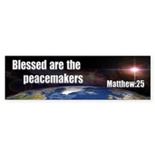 Blessed Peacemakers Bumper Bumper Sticker