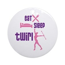 Eat Sleep Twirl Ornament (Round)