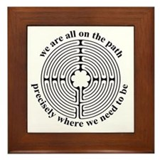 Finger Labyrinth Framed Tile