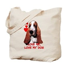 basset love Tote Bag