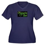 MARGARITA GIRL Women's Plus Size V-Neck Dark T-Shi