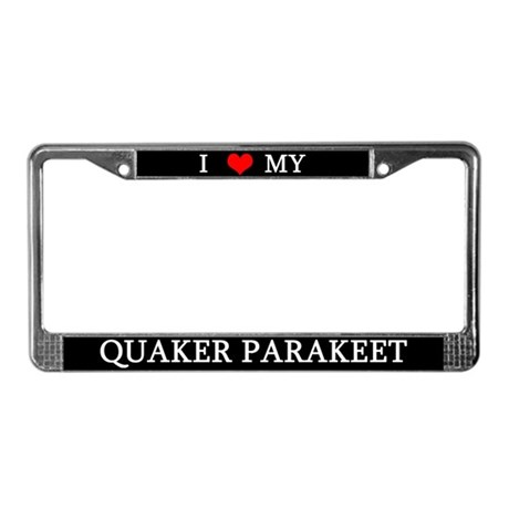 Love Quaker Parakeet License Plate Frame