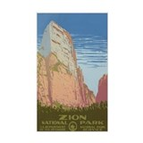 ZION NATIONAL PARK vinyl sticker