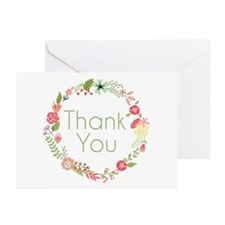 Floral Thank You Greeting Cards