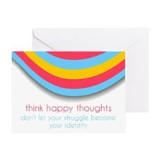 Think Happy Thoughts Greeting Cards