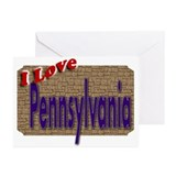 I Love Pennsylvania Greeting Cards (Pk of 10)