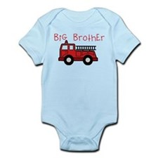 Big Brother Fire Truck Infant Bodysuit