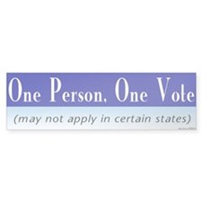 One Person, One Vote Bumper Bumper Sticker